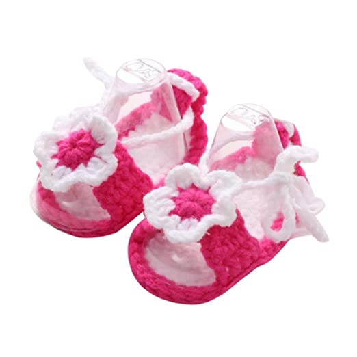 c066777e40c2a Amazon.com: Botrong Crib Crochet Casual Baby Girls Handmade Knit ...
