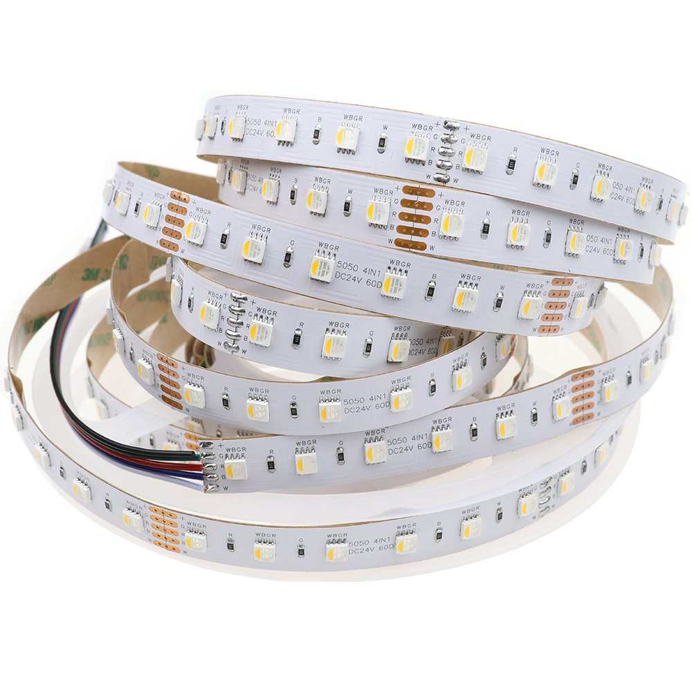 ENET LIGHT . LEDENET RGBWW LED Strip 4 Colors in 1 SMD 5050 RGB /& Warm White Flex Fairy String Light 5M 300LEDs 24 Volt Tape Lighting RGBWW Waterproof IP65
