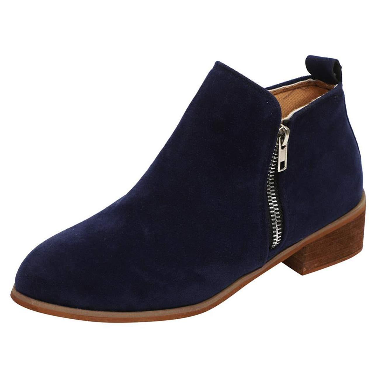 Chaussures Femme Femmes Bottine Courte Bottillons Cuir Knight Mesdames Martin Bottes Chaussures HCFKJ-Js