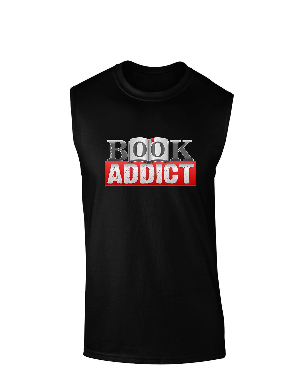 TooLoud Book Addict Dark Muscle Shirt