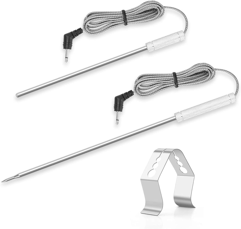 Meat Temperature Probe Ambient Probe Replacement Probe for Thermopro TP20 TP17 TP-16 TP-16S TP08S TP25 TP07 TP17H TP27 TP06S TP09 TP28,2-piece set