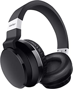 Wireless Headphones with Microphone Over Ear GoldenPlayer Deep Bass Hi-Fi Stereo Wireless Headphones Soft Earpads Lightweight Wired Wireless Headsets for Adults Travel Home Office Online Class Black