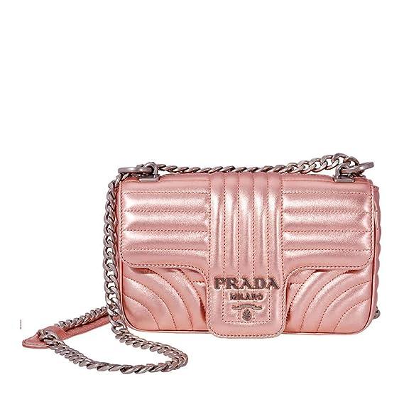 31366d43ba5c Prada Diagramme Leather Shoulder-Pink: Amazon.ca: Watches