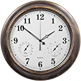 Attrayant SkyNature Outdoor Clocks, 18 Inch Large Indoor Outdoor Wall Clock  Waterproof With Temperature And Humidity