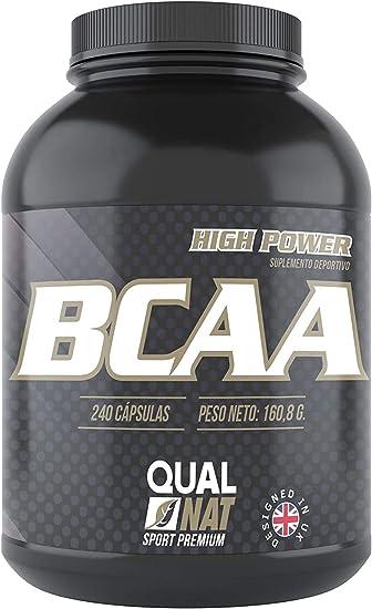 BCAA con Vitaminas B2 B6 | Suplemento Deportivo | 240 Cápsulas- Qualnat