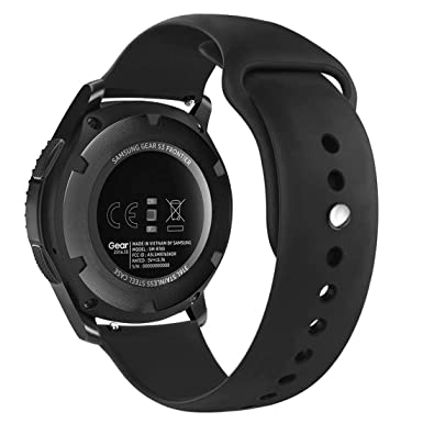 BOLWEO Watch Bands Compatible Samsung Galaxy Watch 46mm Wristband for Gear S3 Frontier Classic 22mm Universal Silicone Strap Replacement Bracelet for ...