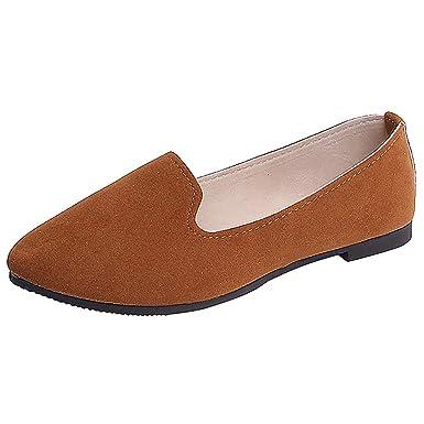 DressLksnf Mujer Planas Zapatos Moda de Salvaje Zapatillas de ...