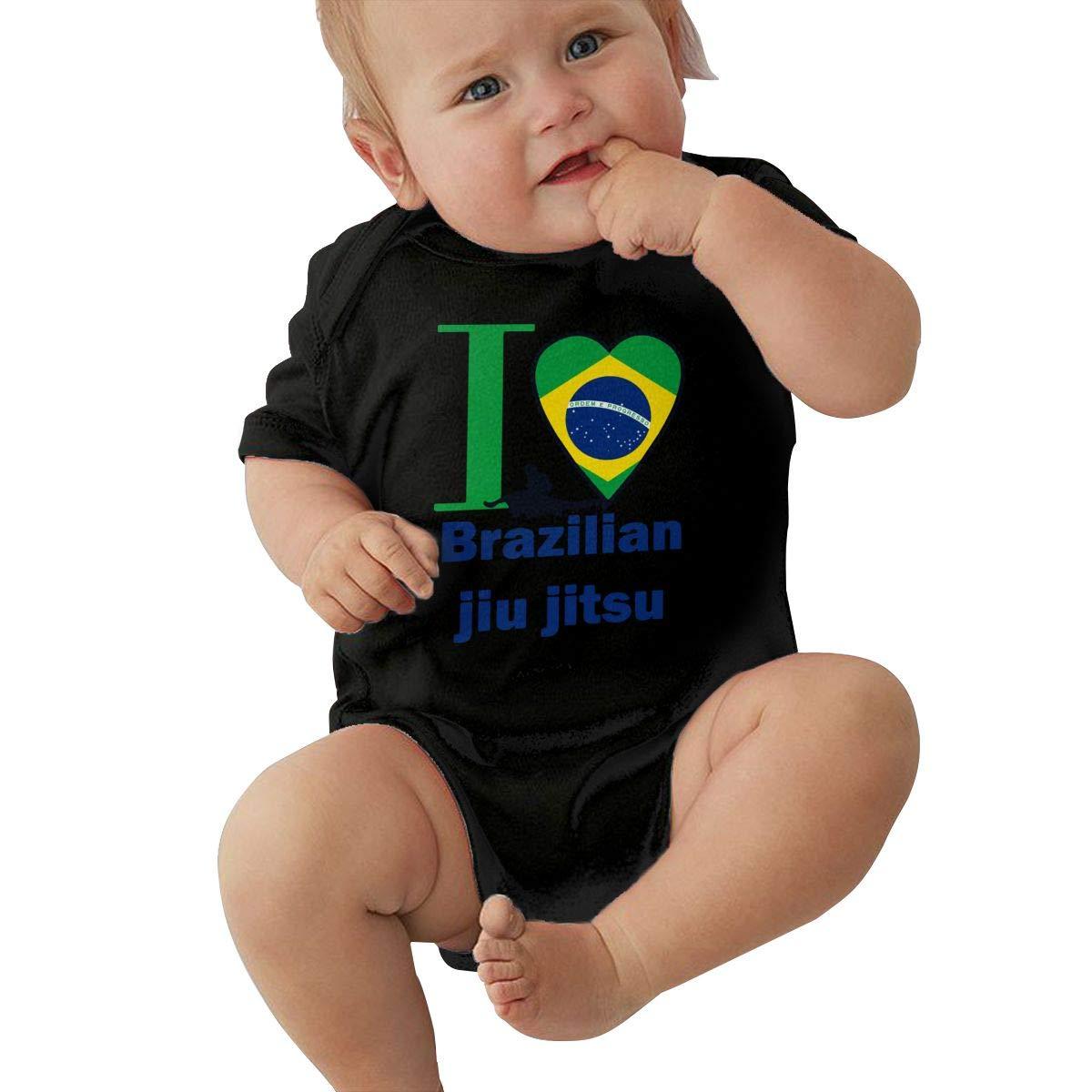 I Love Brazilian Jiu Jitsu Newborn Baby Girl Infant Sleep and Play Short Sleeve Coveralls Jumpsuits