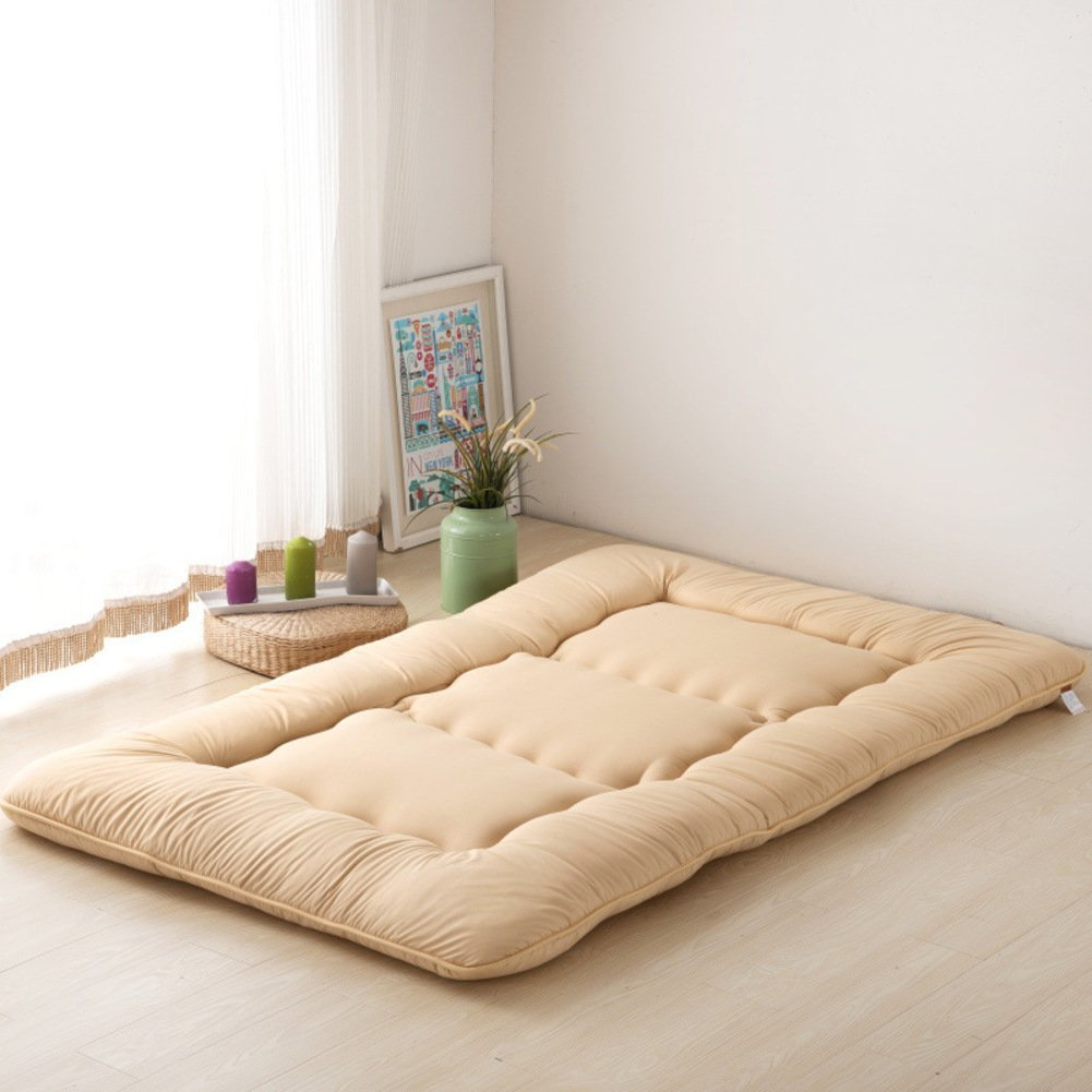 KELE Thickened,Tatami,Mattress Single,Double,Student dormitory,Bed cushion-White 100x200cm(39x79inch)