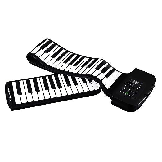 13 opinioni per Andoer® Pianoforte Portatile a 88Tasti, in Silicone Flessibile, arrotolabile,