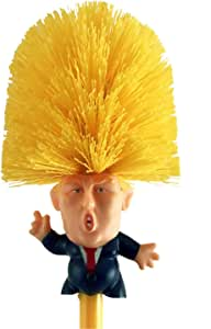 Donald Trump Toilet Brush Bowl Plunger with Holder Novelty Gag Gift Impeach Trump Dump Trump