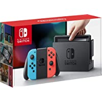 Nintendo Switch 32GB Console Video Games w/ 32GB Memory Card | Neon Red/Neon Blue Joy-Con | 1080p Resolution | 802.11ac…