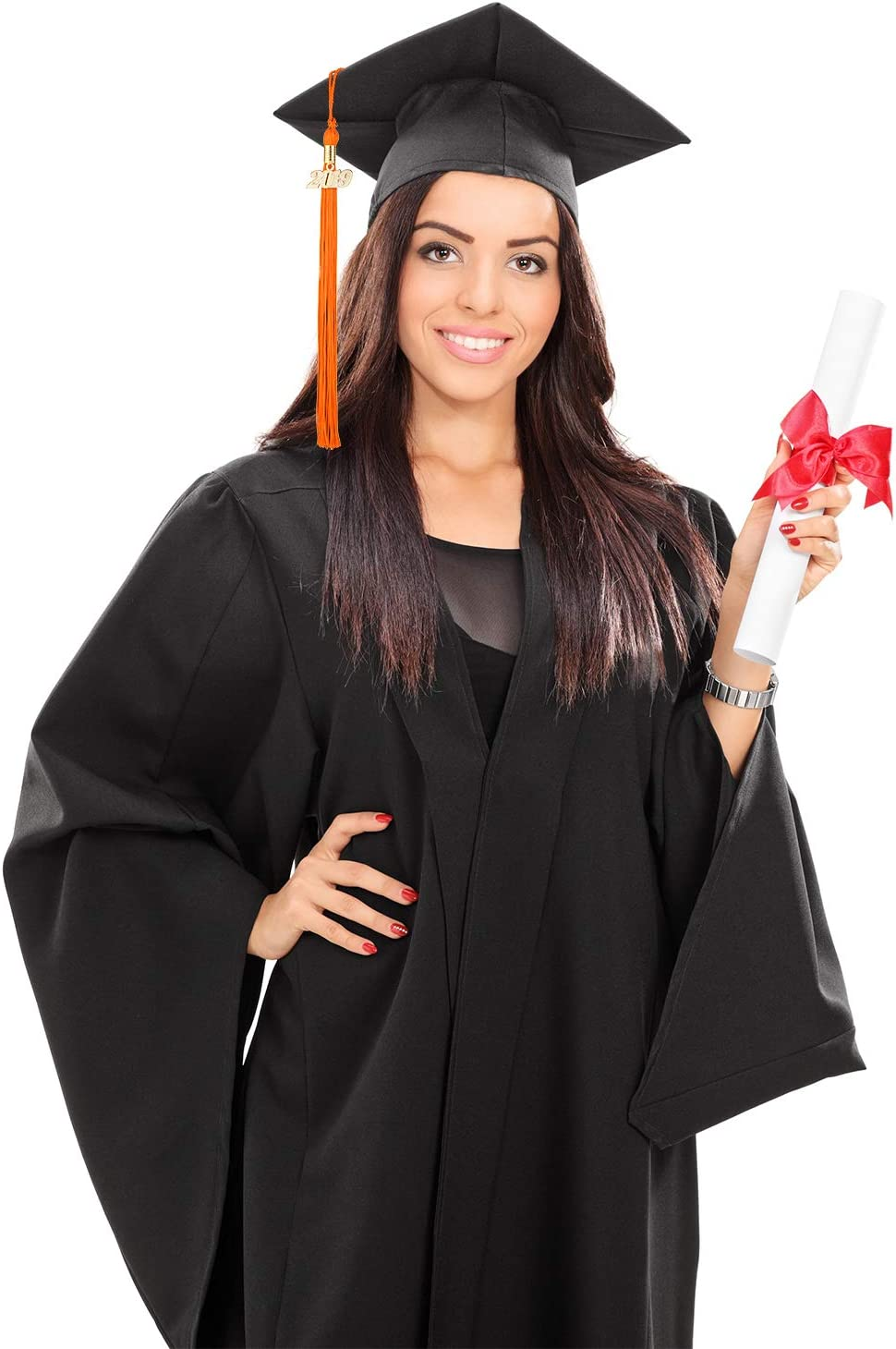 9.4 Inches Yaomiao 8 Pieces Graduation Tassel Graduation Cap Tassel with 2019 Year Charm for Graduation Parties Gold