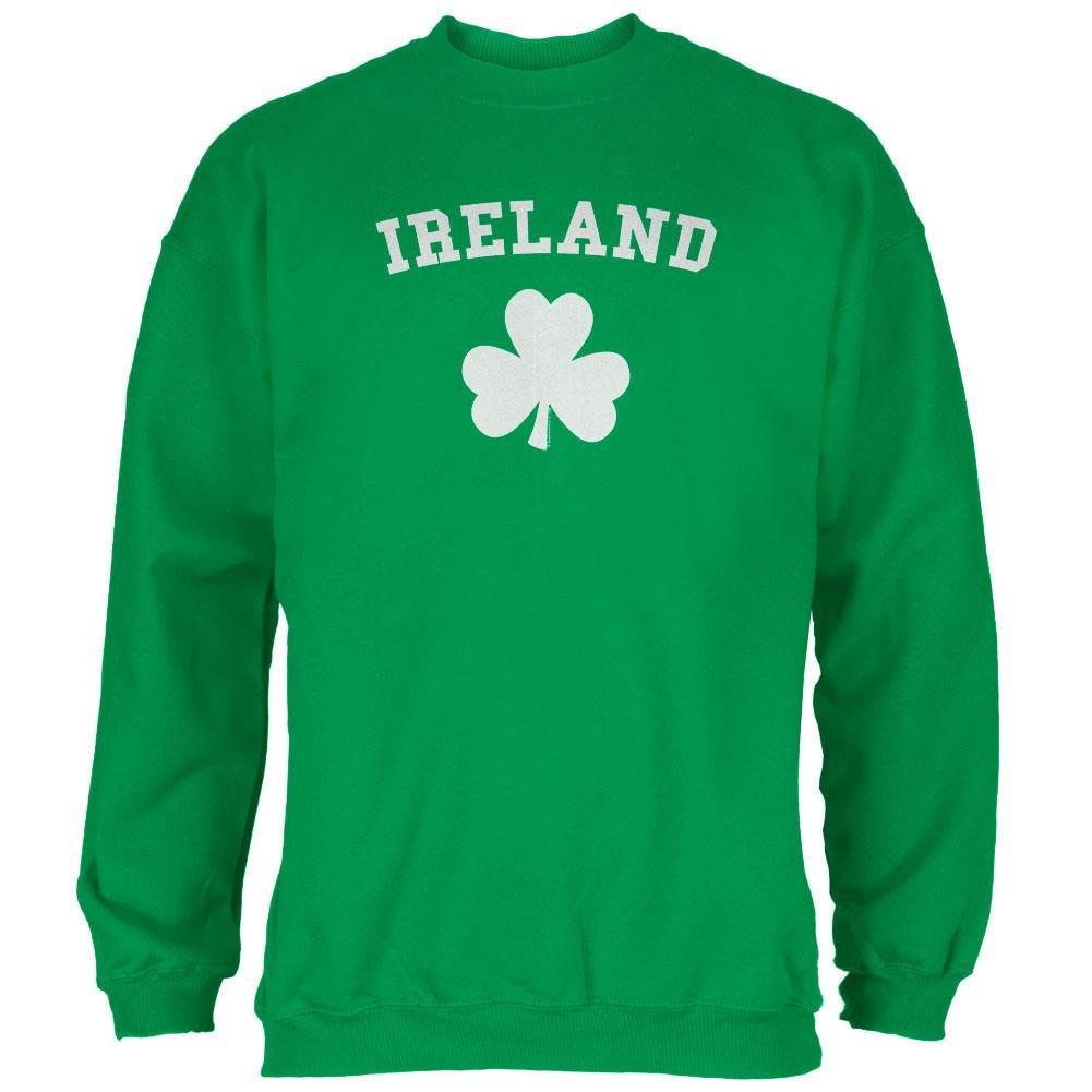 Old Glory St Patricks Day Ireland Shamrock Green Adult Sweatshirt