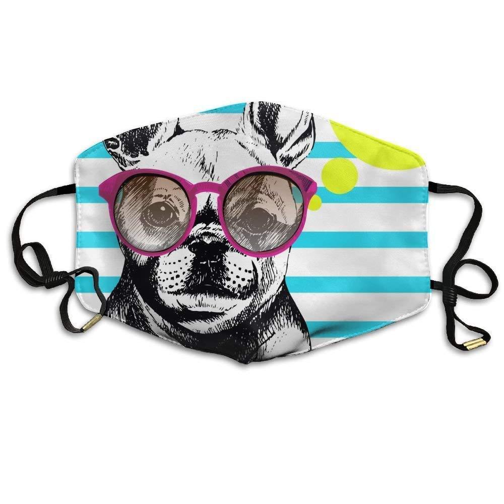 Voxpkrs French Bull Dog Vector con gafas de sol Máscaras de ...