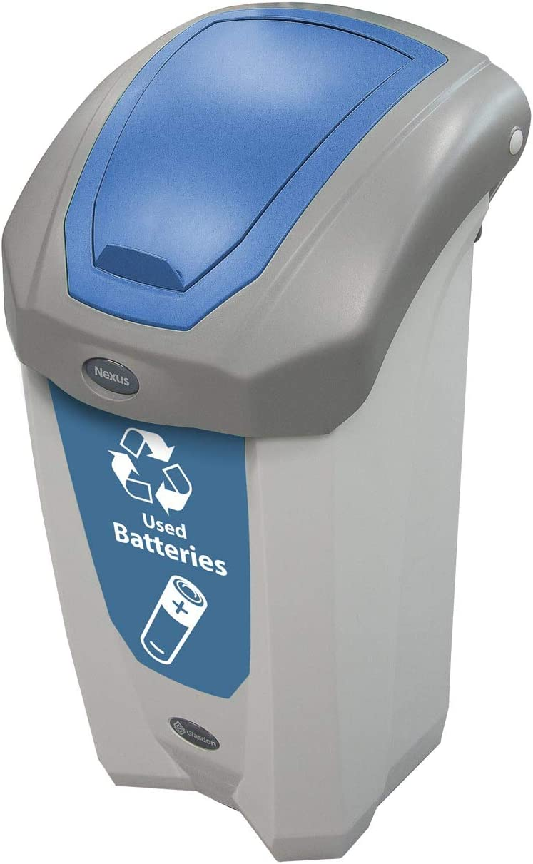 Amazon Com Nexus 8g Battery Recycling Bin Blue 8 Gallon Small Recycling Container Plastic Home Kitchen