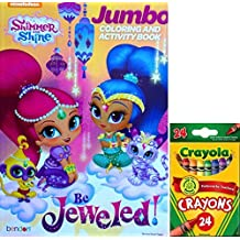 Shimmer And Shine Jumbo Coloring And Activity Book Be Jeweled With Crayola Crayons 24 by Bendon