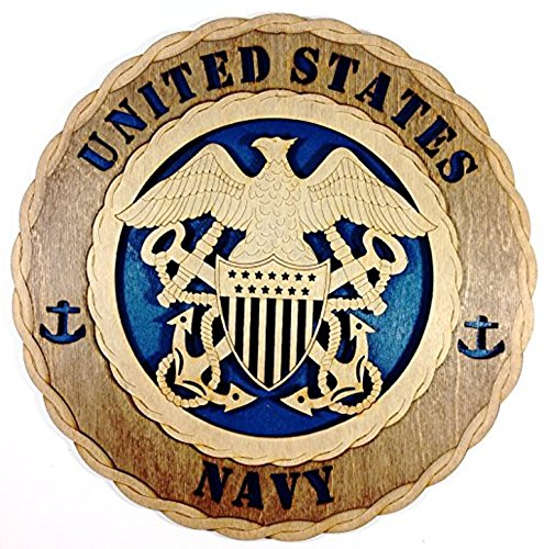 Decorative Emblem - Navy Decorative Custom Laser Three Dimensional Wooden Wall Plaque - Armed Forces