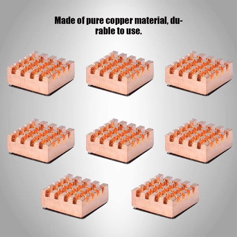 Pure Copper Heatsink 8PCS Cooling Fin Durable for Notebook CPU