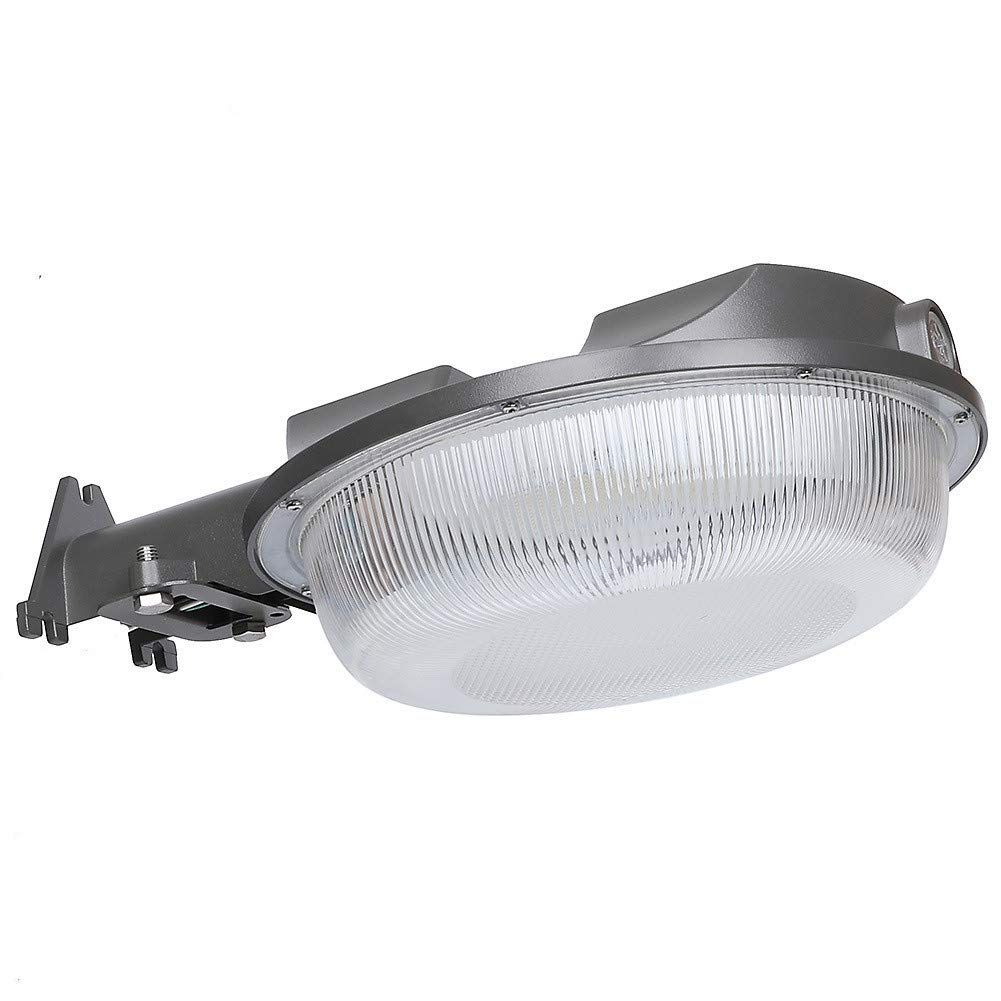 CINTON dusk to dawn led outdoor lighting, LED Barn Light, 58W Area Light Photocell Included, 5000K Daylight, 6400LM, Perfect Yard Light, DLC & ETL Listed, 550W Incandescent or 150W HID light Equivalen