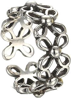 Stile Vintage argento antico gruppo aperto cavo Midi anello per uomini/donne gioielli