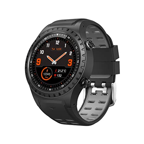 Cool-M1 GPS Sport Watch Fitness Tracker Smart Watches for Men with Heart Rate Monitor Pedometer Watch IP67 Waterproof Level Watch (Black)