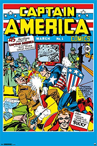 Trends International Captain America Comics No.1 Collector's Edition Wall Poster 24