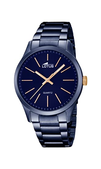 e48f9627d434 Lotus Reloj Analógico para Hombre de Cuarzo con Correa en Acero Inoxidable  18163 2  Amazon.es  Relojes