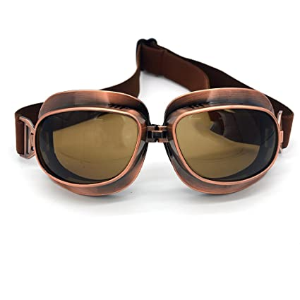 e3c9d970f120 Evomosa Motorcycle Goggles Retro Vintage Motocross Off-Road ATV Pilot  Goggle Eyewear Sports Glasses Snowboard