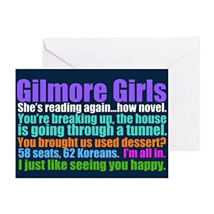 Amazon CafePress Gilmore Girls Quotes Greeting Card Note