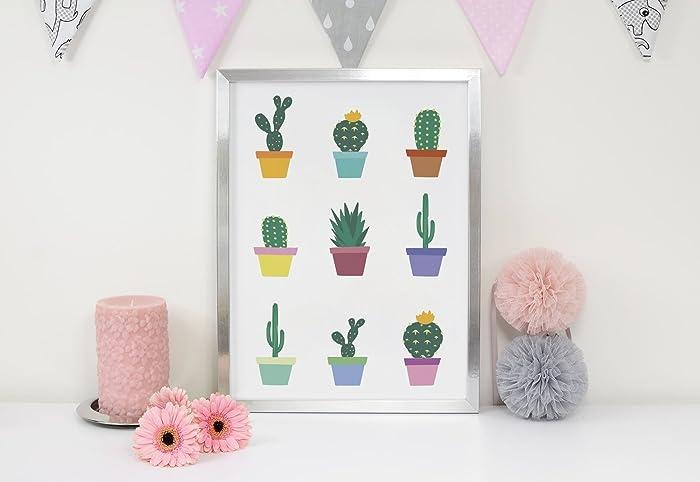 Amazon.com: Little Cactus Print, Cactus Wall Art, Wall Decor, Wall ...