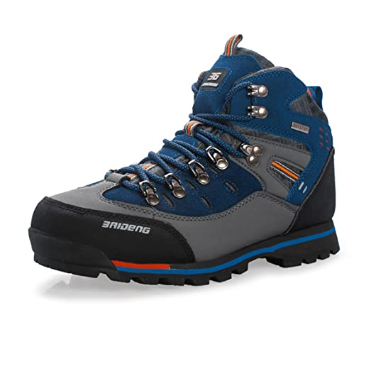 Men Antiskid wear resistance Cold-Weather Hiking Boots Outdoor Genuine Leather High Cut Shoes