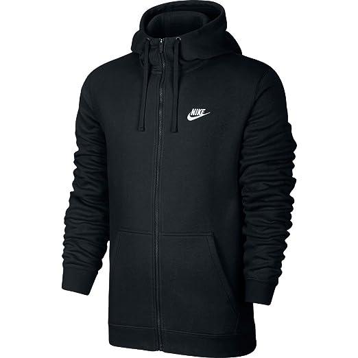 super popular 576e7 dc674 NIKE Sportswear Mens Full Zip Club Hoodie, BlackBlackWhite, X-
