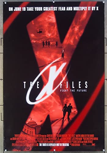 The X Files 1998 Original One Sheet Movie Poster 27x49 Style D David Duchovny Directed By Rob Bowman At Amazon S Entertainment Collectibles Store