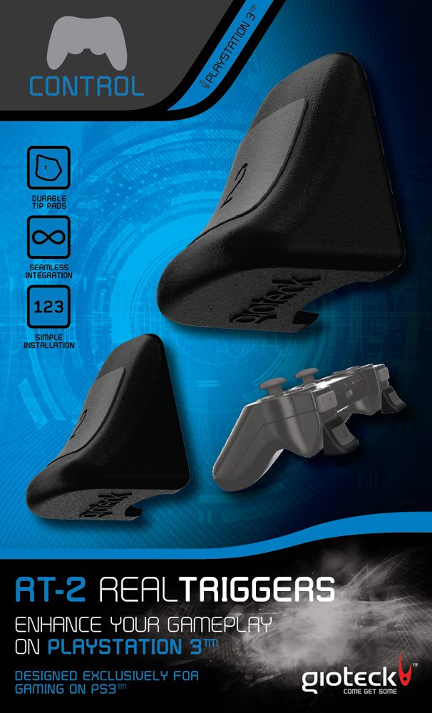 Gioteck PS3 Dual L / R Triggers Controller Attachments for Playstation 3