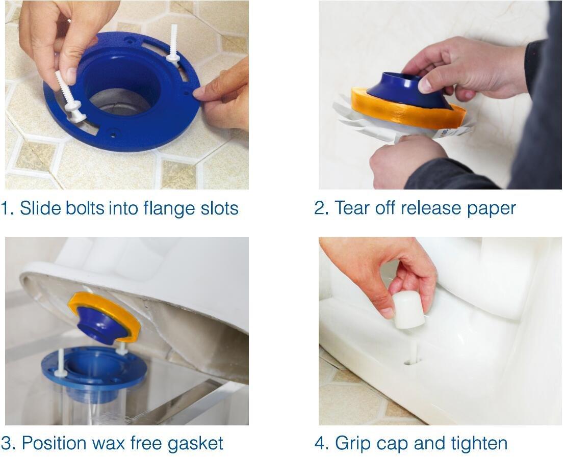 Spacio EG1002USA Elastic Gasket Wax –Free with Toilet Bolts by Spacio (Image #3)