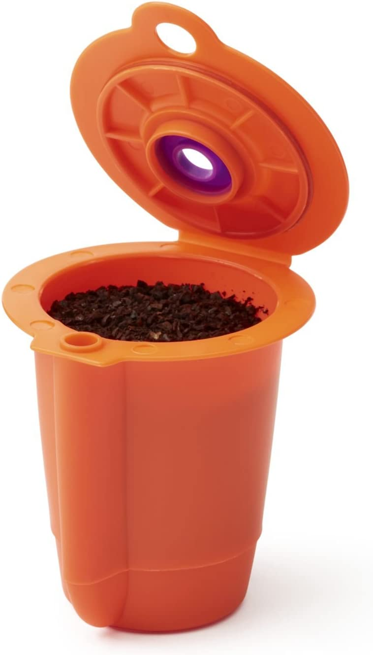 Ekobrew Ek12001uns Coffee Reusable Filter, Small, Orange