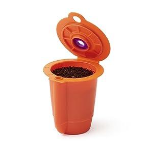 Ekobrew EK12001US Coffee Reusable Filter, Small, Orange