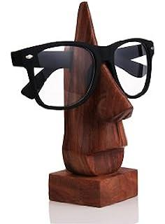 Regalo unico del giorno delle madri, In legno porta occhiali, baffi, occhiali, porta a forma di naso Spec Holder, marrone 15,2 cm Eyewear fermo.