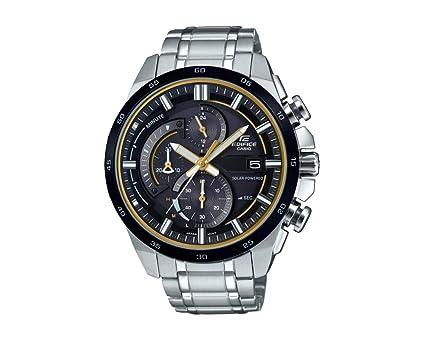 CASIO Reloj Cronógrafo para Hombre de Energía Solar con Correa en Acero Inoxidable EQS-600DB-1A9UEF: Amazon.es: Relojes