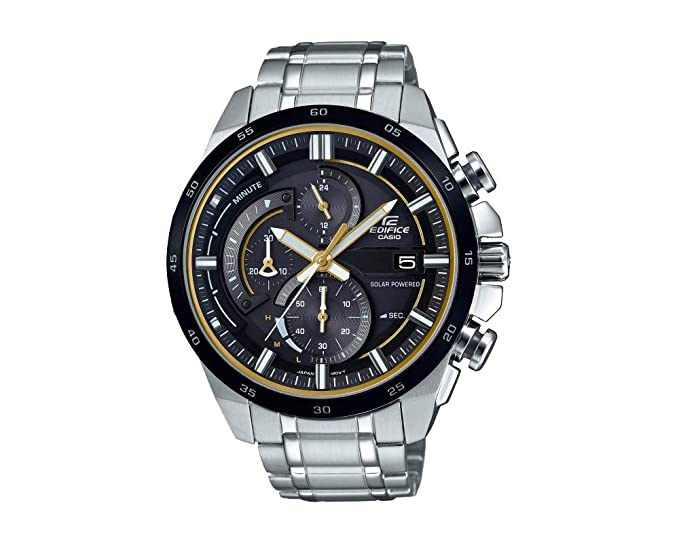 CASIO Chronograph Solar Powered EQS-600DB-1A9UEF  Amazon.co.uk  Watches 0922b4158e25