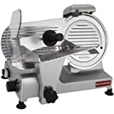 """BESWOOD 9"""" Premium Chromium-plated Carbon Steel Blade Electric Deli Meat Cheese Food Slicer Commercial and for Home Use…"""