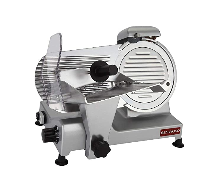 """BESWOOD 9"""" Premium Chromium-plated Carbon Steel Blade Electric Deli Meat Cheese Food Slicer Commercial and for Home Use 240W BESWOOD220"""