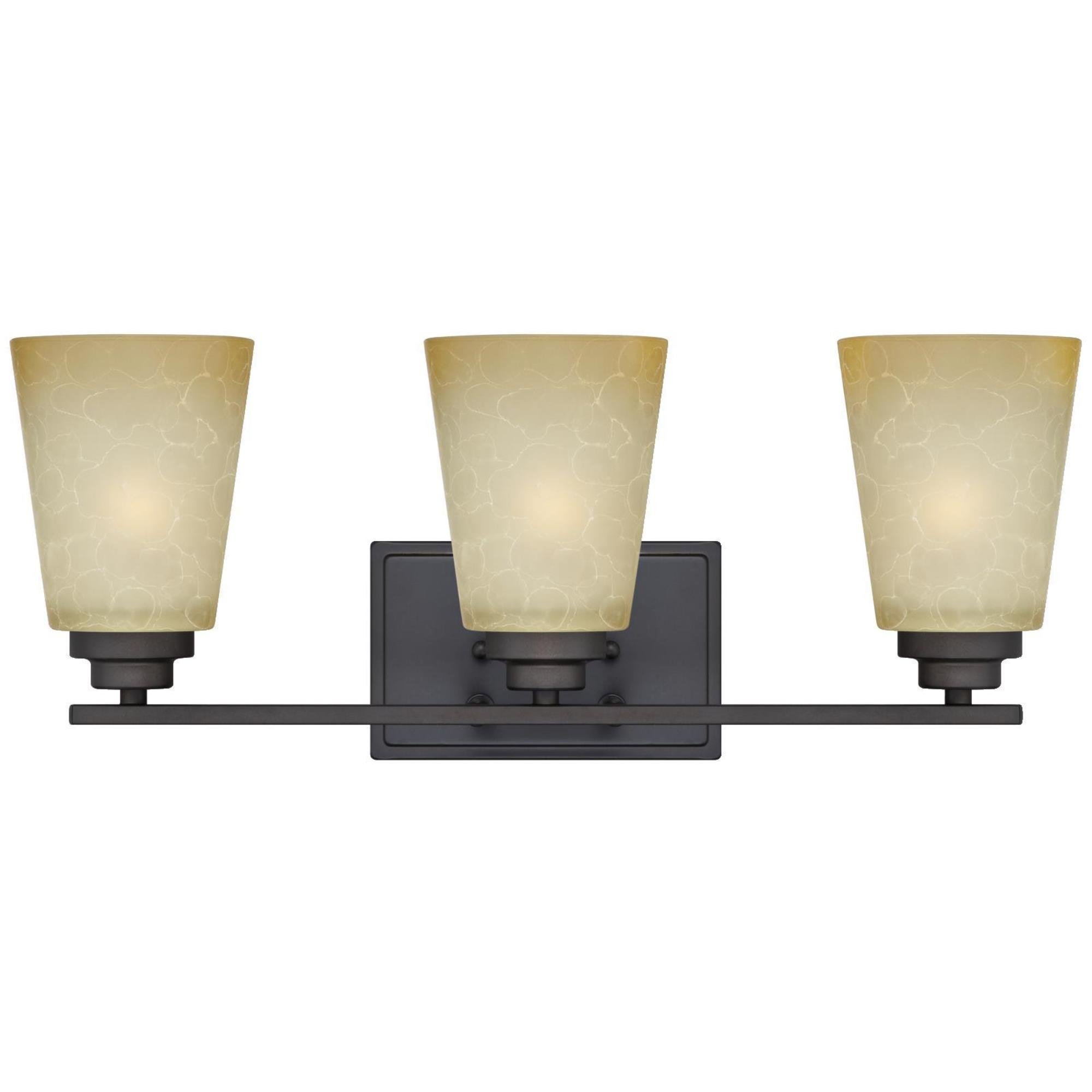 Westinghouse 63442C Ewing 3 Light Indoor Wall Fixture, Oil Rubbed Bronze by Westinghouse