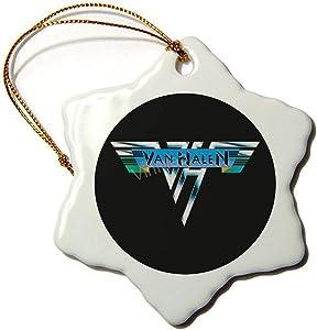 Christmas Ornaments Lover V-Halen Hard Rock Band Legend Xmas Decorative Hanging Ornament