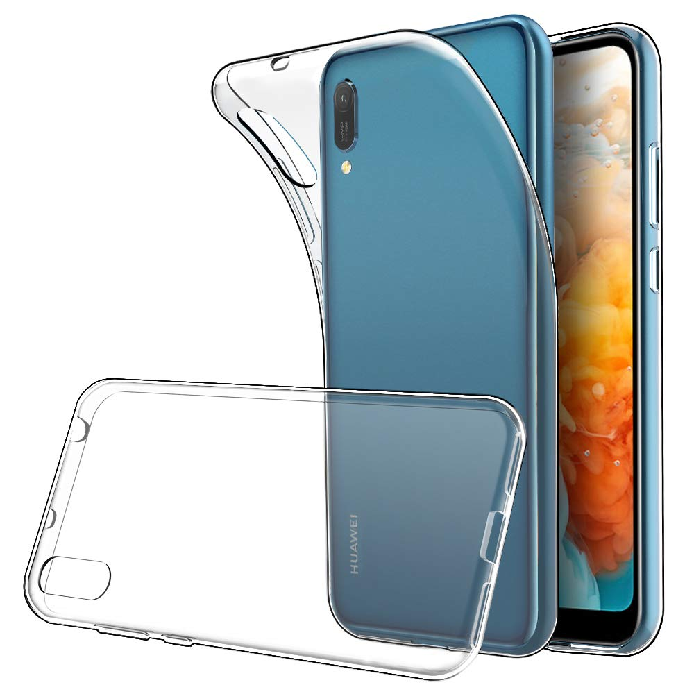 Simpeak Case Compatible with Huawei Y6 2019, Transparent Protective Case Cover Replacement for Huawei Y6 2019, Phone Case Silicone Clear Ultra-thin Soft TPU Gel Cover
