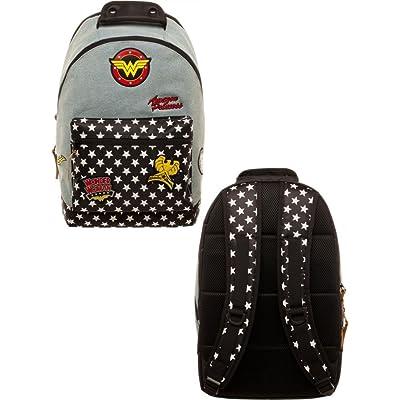 70%OFF DC Comics Wonder Woman Denim Backpack w/Patches