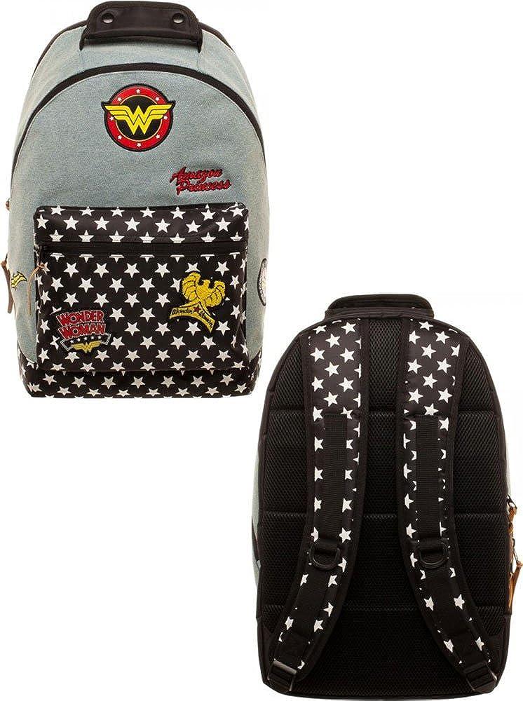 37a6bd731cd5 DC Comics Wonder Woman Denim Backpack w/Patches