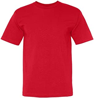 product image for Bayside Adult American Pride Short Sleeve Crewneck T-Shirt, Red, X-Large