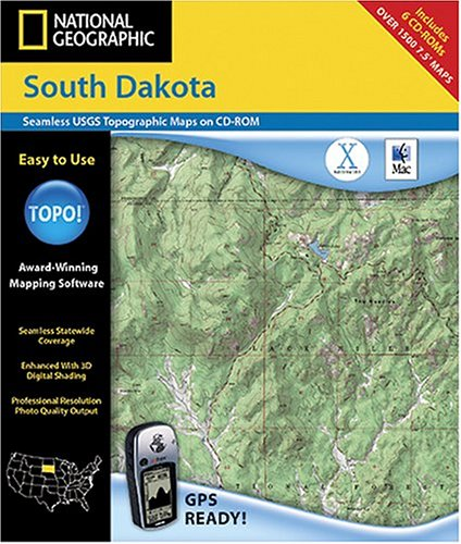 National Geographic TOPO! Map of South Dakota (Mac)